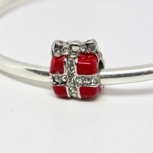 Holiday Red Present Handmade Gift Charm